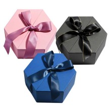 Luxury flower hexagon box gift packaging with Lids
