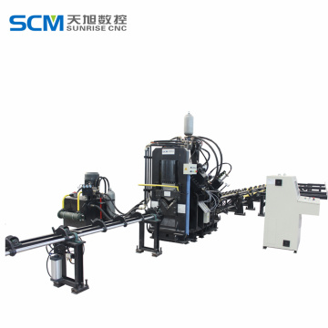 cnc marking Angle punching machine with shearing function