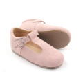 Pink Leather Children Dress T bar Shoes
