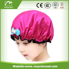Waterproof PEVA Printed Shower Cap For Kids