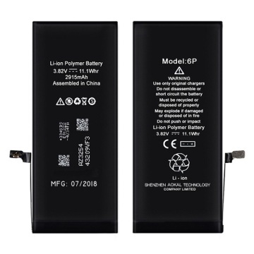 China Factories for High Capacity Apple iPhone 6Plus/6S Plus Li-ion Battery Higher Than Orginal Capacity 300mAh High Capacity iPhone 6Plus 3410mAh 0 Cycle Battery supply to Poland Wholesale