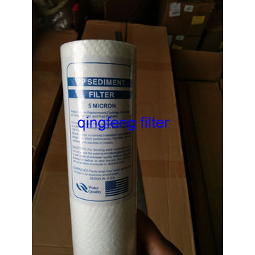 "40"" PP Sediment Filter Cartridge  Filtration"