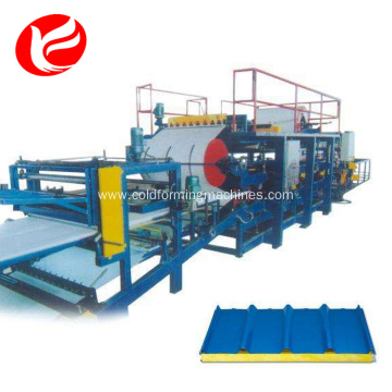 Eps sandwich panel press roof production machine