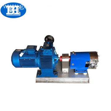 Sanitary stainless steel rotary lobe pump for honey
