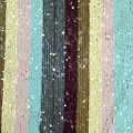 Multicolor Rainbow Stripe Sequin Poly Mesh Embroidery Fabric