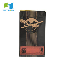 Compostable Tea Coffee Packaging Kraft Paper Bags