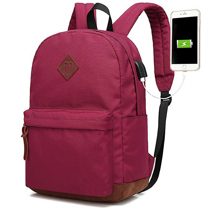College School Backpack Bag Travel Back Pack With Usb Charger 2