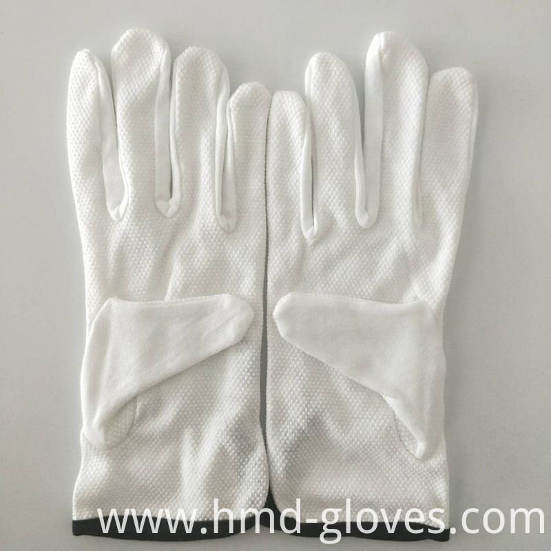 White Sure Cotton Gloves 7
