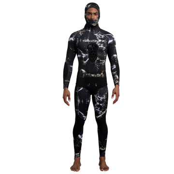 Seaskin High Waist Pants/Jacket With Hoodie Wetsuits