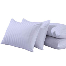 Cotton Sateen Stripe Zippered Pillowcase Slips