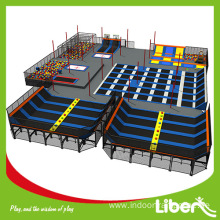 Adult indoor trampoline jumping exercise