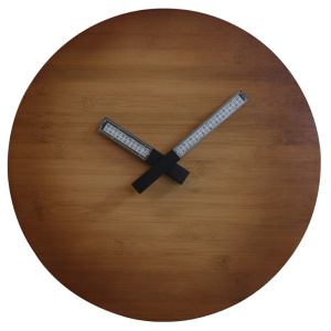 Leading for Wall Led Light Natural Wood Wall Clock Light up for Decoration export to Gambia Supplier