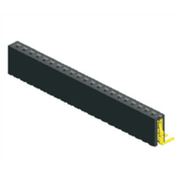 1.27mm Female Header Single Row Angle Type