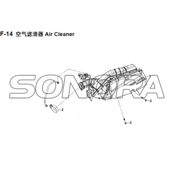 F-14 Air Cleaner XS150T-8 CROX For SYM Spare Part Top Quality