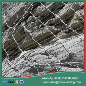 galvanized slope protecting net rockfall netting