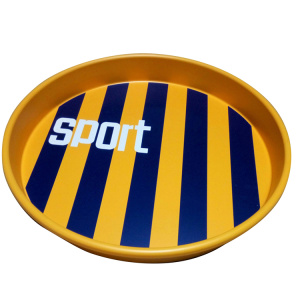 Decorative Metal Tin Round Tray for Bar Party