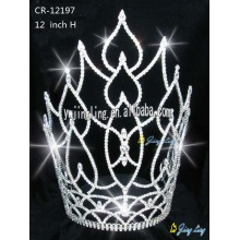 China for Sunflower Crown 2018 Leaf Tiara Pageant Crown Winner supply to Israel Factory
