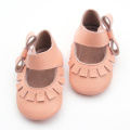Cute Lacework Baby Leather Bowknot Shoes