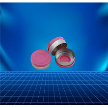 pink aluminium and plastic cap for glass bottle
