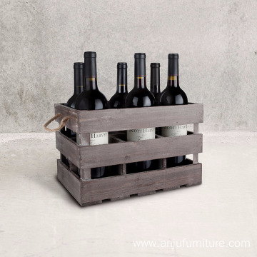classical wooden packaging 6 bottle wooden wine box