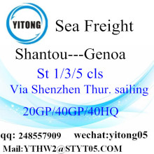 International Shipping Service From Shantou to Genoa