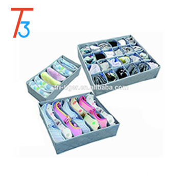 Underwear Socks Ties Bra Drawer Organizer Storage Box,Bamboo Charcoal Absorbs Moisture and Smell