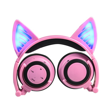 Light up Cat Ear headphones Wireless for Kids