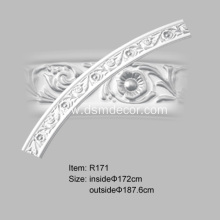 PU Carved Curved Moldings with Rosette Design