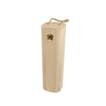 1-Piece Wooden Wine Box with String