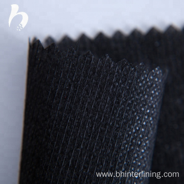 Stitch bond nonwoven fusible interlining for garment