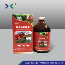 Low MOQ for Multi-Vitamin Injection Animal Multivitamin 50ml Injection supply to United States Factory
