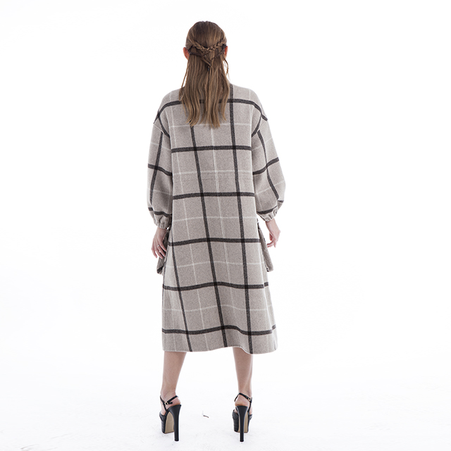 Cashmere overcoat Plaid
