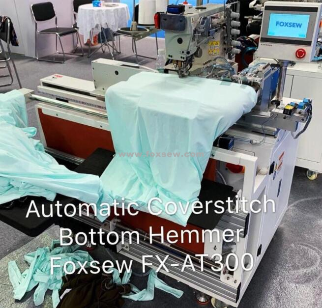 Automatic Tubular Coverstitch Bottom Hemmer Fx At300 009