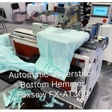 Automatic Tubular Coverstitch Bottom Hemmer