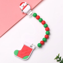 ODM for Beaded Baby Pacifier Clips Silicone Teething Baby pacifier clip export to Japan Manufacturer