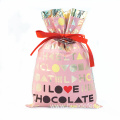Pink Drawstring PE Plastic Gift Bag For Lover