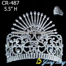 5 Inch rhinestone pageant crowns for sale