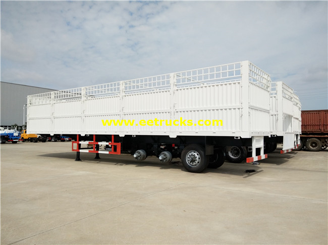 Tri-axle Cargo Box Semi Trailers