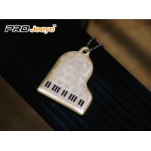 Piano PVC Walking Safety Reflective Pendant For Bag