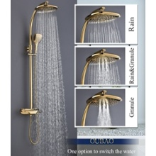 Bathroom Luxury Bath Rain Fall Shower Mixer Faucets