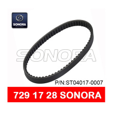 Hot sale for Offer Bando Scooter Belt 669 18 30, Aerox Belt 751 16.5, CVT Drive Belt 788 17 28 from China Supplier SCOOTER V BELT 729 x 17 x 28 MOTORCYCLE V BELT (P/N:ST04017-0007) ORIGINAL QUALITY supply to Netherlands Supplier