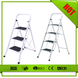 Square tube steel ladder