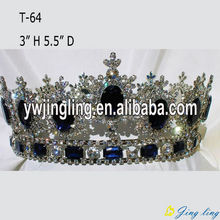 Custom Rhinestone Full Round Queen Crowns
