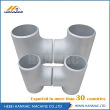 Good Quality for Aluminium Tee Fittings Alloy seamless aluminum equal tee supply to Malta Manufacturer
