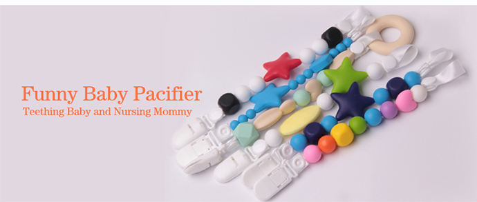 baby teething pacifier clip holder