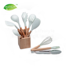 Factory made hot-sale for Silicone Kitchen Tools Set 10 Pieces Wooden Handles Silicone Cooking Tools supply to Armenia Supplier