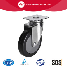 Chrome 4 Inch 70Kg Plate Swivel PU Caster