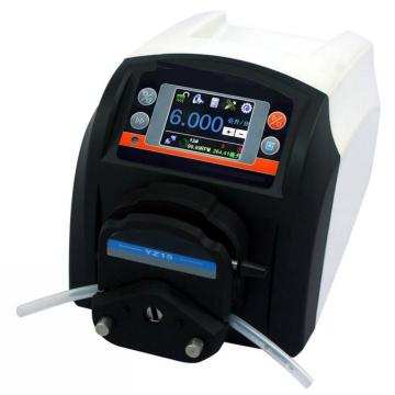 Low cost plastic peristaltic liquid pump