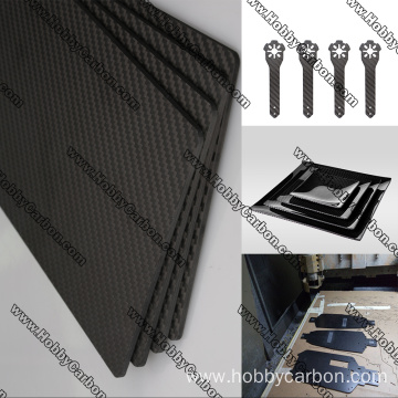 I-500x600mm Carbon Fiber Sheet Uhlaka lwe-CNC Cutting