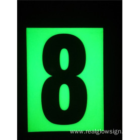Realglow Photoluminescent  Flat Number 8
